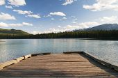 Dock On Lake In Alberta