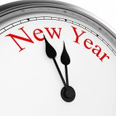 New Year On A Clock