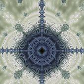Bizarre Fractal Structure Blue