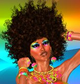 Afro Hairstyle and Beautiful Face,Woman