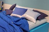 Pantone Bed Sheets On Display At Homi, Home International Show In Milan, Italy