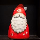 Santa Statue On Display At Homi, Home International Show In Milan, Italy