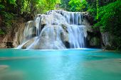 stock photo of chute  - Water fall hua mae kamin Kanchanaburi Thailand  - JPG