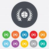 Basketball sign icon. Sport symbol.