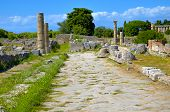 Ancient road in Paestum - Salerno Italy