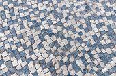 Closeup Of Portuguese Typical Pavement, Calcada