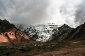 stock photo of aconcagua  - The highest mountain in South America, Mendoza, Argentina