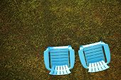 Chairs on a lawn