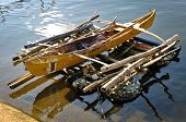 picture of filipino  - Traditional filipino fishing boat in the water - JPG