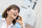 Beautiful Businesswoman On The Phone