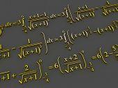 Mathematical formulas. 3d