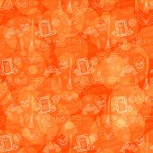 Orange Halloween Pattern