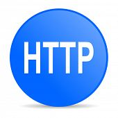 http internet blue icon