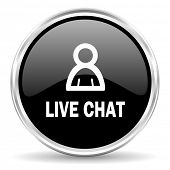 live chat internet icon
