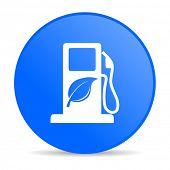 biofuel internet blue icon