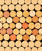 Wine corks close up