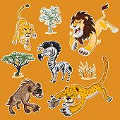 Africa Animals & Trees Collection Set 01