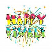 Diwali celebration with stylish text of Happy Diwali.