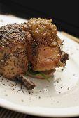 Roast Chicken Dinner; Angled Close Crop