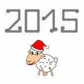 A Funny Christmas Cartoon Sheep