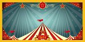 fun circus banner. A fun circus banner for an invitation