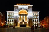 Night view of city center in Timisoara on July 22, 2014, Romania