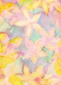 Abstract watercolor hand painted background. Flower pattern. Paper texture.