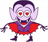 Halloween Dracula feeling madly in love