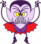 picture of terrific  - Angry vampire in minimalist style with pointy ears - JPG