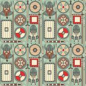 Seamless Viking Pattern 02