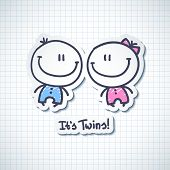 stock photo of twin baby girls  - it - JPG