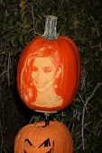 LOS ANGELES - OCT 4:  Kim Kardashian Carved Pumpkin at the RISE of the Jack O'Lanterns at Descanso Gardens on October 4, 2014 in La Canada Flintridge, CA