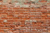Old Brick Wall With Red Bricks