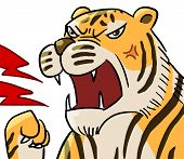 cartoon animal emotion tiger roar