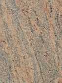 stock photo of taupe  - smooth solid striped taupe large granite slab - JPG