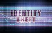 stock photo of theft  - Identity Theft on a Tech Business Chart Art - JPG