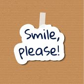 Smile please note