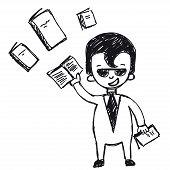 businessman trained, improve qualification
