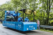 Krys Vehicle On The Road Of Le Tour De France