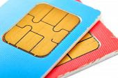 Two Old Sim Cards