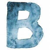 Watercolor vector capital letter B