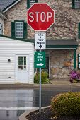 Parking Signs In Amish County, Lancaster, Pa.
