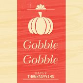 Beautiful poster, banner or greeting card design on occasion of Thanksgiving Day with pumpkin and te