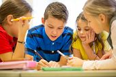 stock photo of classmates  - education - JPG