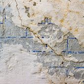 wall with cracks texture fissure damages paint