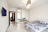 Interior design. Big modern Bedroom