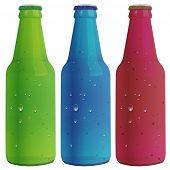 Illustration of three bottles