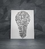 Maze In Form Lightbulb