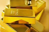 Gold bars close-up