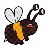 retro comic book style cartoon frightened bee